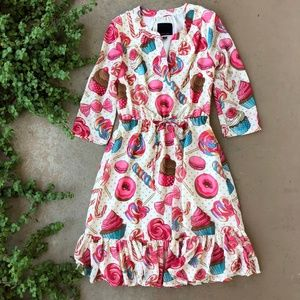 Modcloth Sweets Candy Donut Cupcake Ruffle Dress